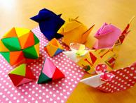 折り紙教室では多面体、置物、箱など様々なものを作っています。手先をしっかり動かすので指の運動にもなりますよ。